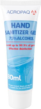 Gel désinfectant, tube de 80 ml