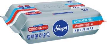 Lingettes nettoyantes antibactériennes désinfectantes, pour surfaces, paquet de 100 pièces
