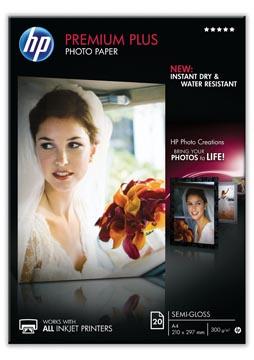 HP Premium Plus papier photo ft A4, 300 g, paquet de 20 feuilles, semi-brillant