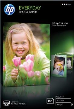 HP Everyday papier photo, ft 10 x 15 cm, 200 g, paquet van 100 feuilles, brillant