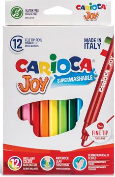 Carioca feutre Superwashable Joy, 12 feutres en étui cartonné