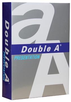 Double A Presentation papier de présentation, ft A4, 100 g, paquet de 500 feuilles