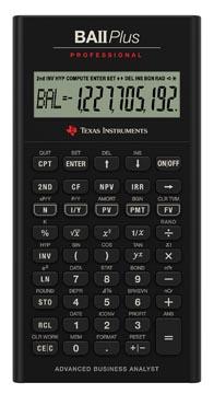 Texas calculatrice financière BA II Plus Professional