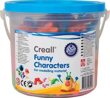 Creall accessoires pour pâte à modeler Funny Characters, seau avec figures assorties