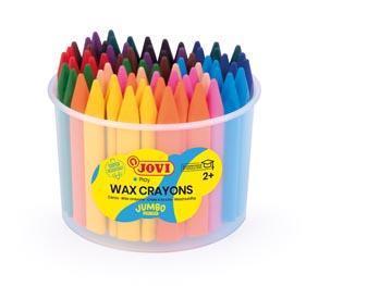 Jovi Craie à la cire Triwax, boîte de 72 pièces et 2 taille-crayons