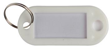 Q-Connect porte-clés, paquet de 10 pièces, blanc