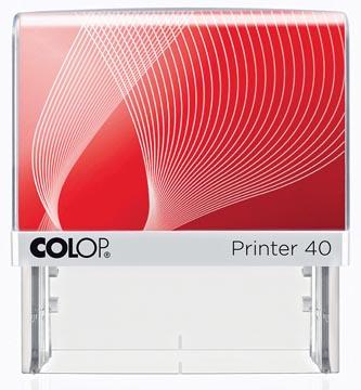 Colop cachet avec système voucher Printer Printer 40, 6 lignes max., ft 59 x 23 mm