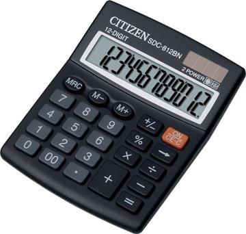 Citizen calculatrice de bureau SDC-812BN, noir