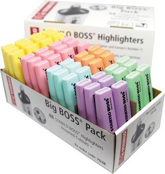 STABILO BOSS ORIGINAL Pastel surligneur, paquet de 48 pièces en couleurs assorties