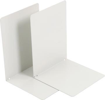 V-Part Bloc-livres métal, lot de 2 pièces, gris clair