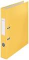 Leitz Cosy classeur à levier avec surface lisse et soyeuse, dos de 5 cm, jaune