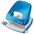 Leitz Perforateur de bureau NeXXt Series WOW, métal, 30 feuilles, bleu, sous blister