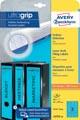 Avery Zweckform L4753-20 étiquettes pour classeurs à levier ft 29,7 x 6,1 cm (lxh), 60 étiquettes, bleu